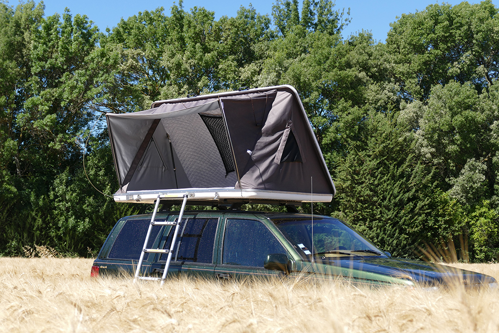 Tente de toit capri trekking acc s facile ouverture lat rale annexe - Tenda da tetto oasis ...