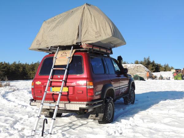 echelle pour tente de toit
