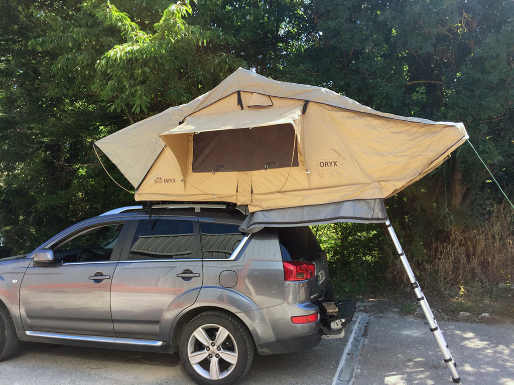 tente de toit oryx trekking d ploiement rapide annexe 8 m2. Black Bedroom Furniture Sets. Home Design Ideas