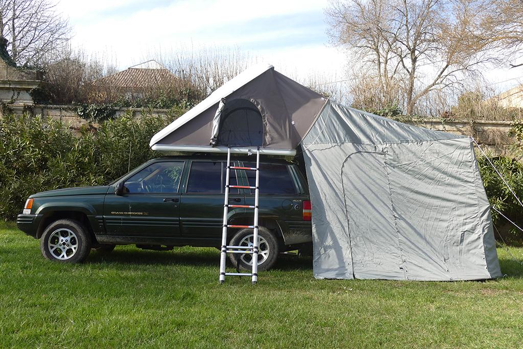 tente de toit tango trekking grande ouverture 45 auvents. Black Bedroom Furniture Sets. Home Design Ideas